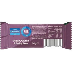 TRIBE Vegan Protein Bar Box 16x50g, brownie